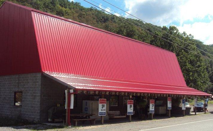 Look for the big red roof at Middle Mountain Sporting Goods & Mini Mart in Elkins, WV