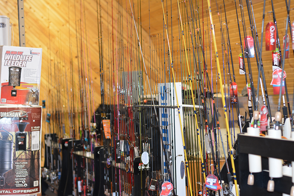 Fishing Rods for bass, salmon, muskie, walleye, fly, trout, panfish fishing & more at Middle Mountain Sporting Goods in Randolph County, WV
